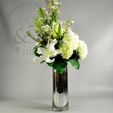 Wholesale Flower Vase Mirrored Glass Cylinder Vase 20x6 Wholesale Flowers And Supplies