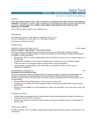 email resume template 10 marketing resume sles hiring managers will notice