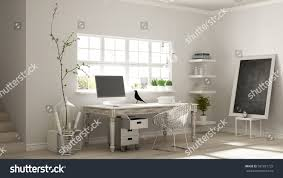 home workplace scandinavian house room corner stock illustration