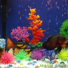 Best Silicone Aquarium Fish Tank Decor Artificial Coral Plant