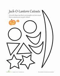 pumpkin carving patterns worksheet education com