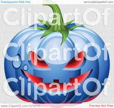 halloween transparent background clipart clipart 3d blue dewy halloween pumpkin with glowing red light