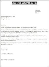professional resignation letter example of resignation letter