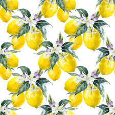 beautiful pattern beautiful pattern with nice hand drawn watercolor lemons royalty