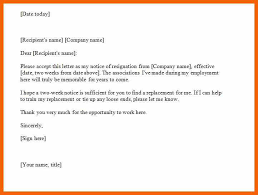 10 11 two weeks notice example formsresume