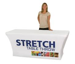 6ft Table Cloth by Stretch Table Cover For 6 Foot Table Power Graphics Com