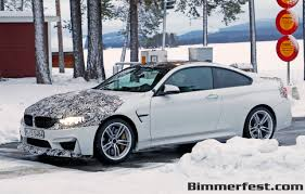 modified bmw m4 bmw m4 cs caught winter testing bmw news at bimmerfest com