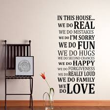 In This House Rules Wall Decal Sticker Art Vinyl By HappyWallz - Family room wall decals