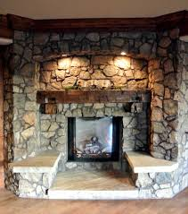decorations interesting stones exposed indoor fireplace with