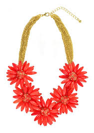 red flower necklace images Flower love statement necklace in red happiness boutique jpg