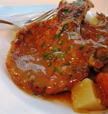 smothered pork chops dishin 39 with di cooking show recipes you