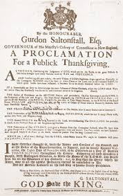 a proclamation for a publick thanksgiving from 1721 thanksgiving