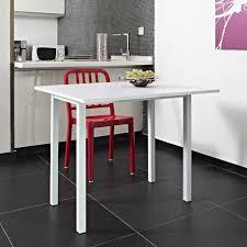 table cuisine blanche kitchen table extensible 80x45 80cm blanche achat vente table