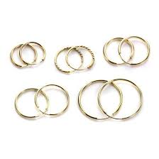 silver sleeper earrings 9ct gold plain 10mm 20mm hoop sleeper hoops sleepers