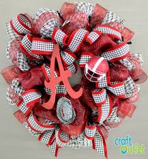 alabama ribbon diy alabama football deco mesh wreath craft outlet inspiration