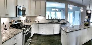 White Kitchen Cabinets With Gray Granite Countertops Grey Granite Kitchen Interiors Design