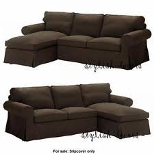 Covers For Chaise Lounge Ikea Ektorp Svanby Brown Slipcover Cover For Loveseat W Chaise