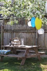 Furniture Enjoy Your Backyard With Perfect Picnic Tables Lowes by Diy Weathered Wood Picnic Table Hometalk