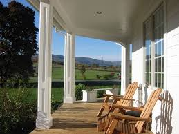 front porch columns with brick