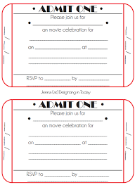 ticket invite template 28 images printable ticket birthday