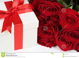 gift box with roses for birthday gifts valentine u0027s or mother u0027s