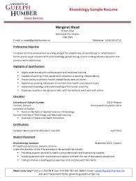 kinesiology sle resume http resumesdesign kinesiology