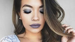 make up tips for salt and pepper hair stone grey lips full makeup tutorial belinda selene youtube