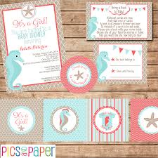 baby shower kits aqua and coral baby shower kit theme coral baby showers