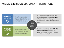 vision and mission vision mission statement