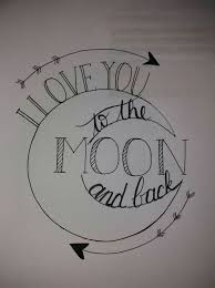 i love you to the moon and back handlettering kunstvoll