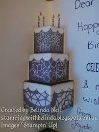 stampin u0027 it up with belinda pop up cake card cards pinterest