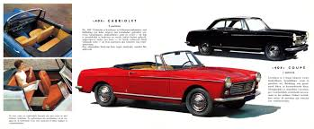 cabriolet peugeot 1963 peugeot 404 cabriolet related infomation specifications