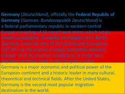 facts on germany the best fact in 2017
