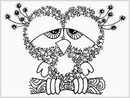 owl coloring pages for adults with coloring pages adults free