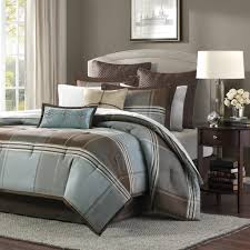 Machine Washable Comforters Bedding Endearing Blue And Brown Queen Size Comforter Sets Machine