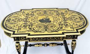 bureau marqueterie b282 table bureau marqueterie boulle napoleon iii la galerie