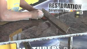 cutting countertop for sink how to cut out a sink on a granite countertop 3 mov youtube