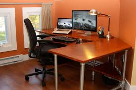 Ergonomic Computer Desk Setup Sofa Design Shaped Small Home Office Computer Desk Setup