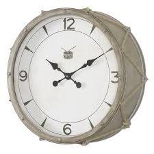 snare home decor wall clock uttermost 06429