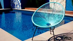 Acapulco Outdoor Chair Acapulco Lounge Chair Replica Outdoor Wicker Light Blue