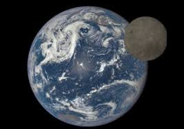 releases stunning image of moon and earth