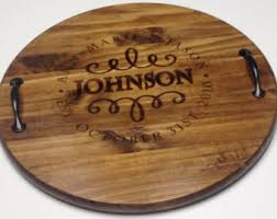 monogrammed serving platters personalized wine barrel tray custom serving tray