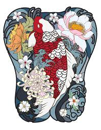 tattoo back japanese japanese koi fish with peony flower and wave tattoo japanese tattoo