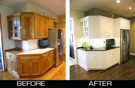 kitchen cabinet refinishers refinishing kitchen cabinets before and after restaining cabinets