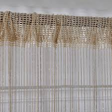 2 pc line string window curtain tassel door room divider scarf