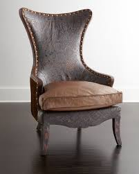 Old Hickory Tannery Chaise Old Hickory Tannery Martha Leather Wing Chair