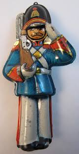 vintage hallmark tin soldier christmas ornament pressed tin from