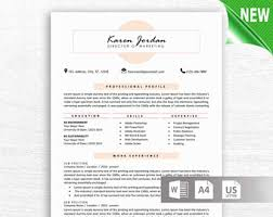 Template For Resume Word Modern Resume Template Cv Template Professional And