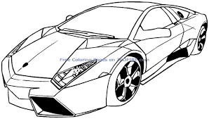 coloring pages for kids archives in sports car printable eson me