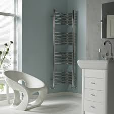 contemporary series wall mount corner towel warmer radiator
